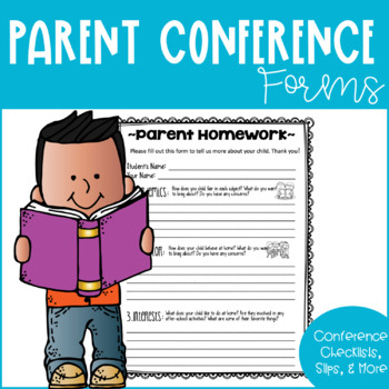 Parent Conference Scheduling & Homework