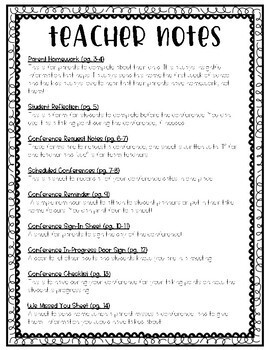 Parent Conference Scheduling & Homework