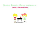 Parent Conference form (Editable)