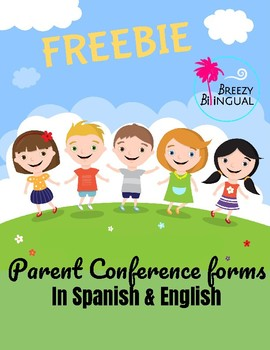 Parent Conference forms in SPANISH & ENGLISH