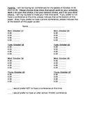 Parent Conference time sign up