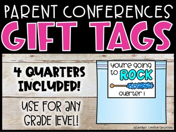 Parent Conferences Gift Tag Toppers