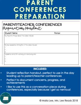 Parent Conferences Handout