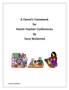 Parent Conferences Homework Assignment