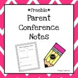 Parent Conference Notes Freebie!