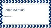 Parent Contact