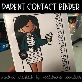 Parent Contact Binder