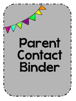Parent Contact Binder Cover
