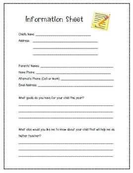 Parent Contact/Data Collection Forms