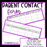 Parent Contact Form