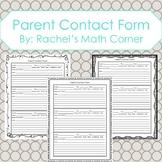 Parent Contact Form