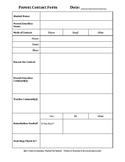 Parent Contact Form & Log