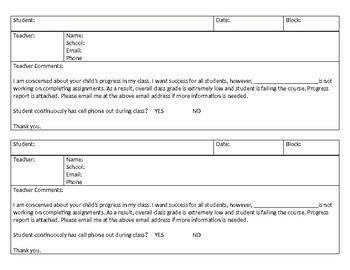 Parent Contact Form1