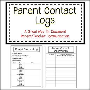 Parent Conferences and Parent Contact Forms