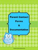 Positive Behavior Management: Parent Contact Forms and Documentation