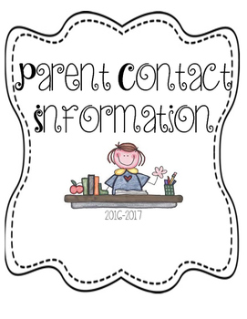 Parent Contact Information Binder Cover
