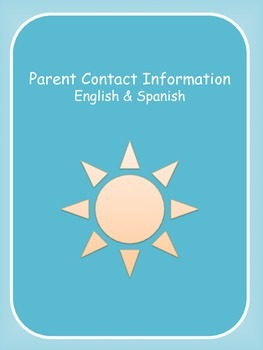Parent Contact Information English & Spanish