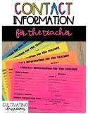 Parent Contact Information Form