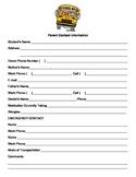 Parent Contact Information Sheet {English & Spanish version}