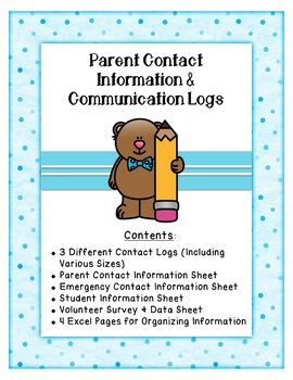 Parent Contact Information and Communication Logs