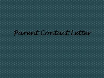 Parent Contact Letter