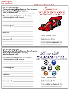 Parent Contact Letter 3-Step Warnings