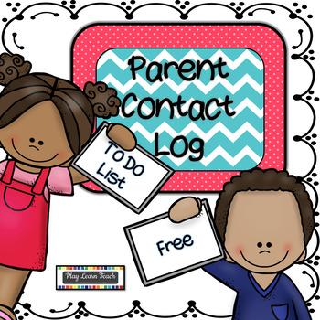 Parent Contact Log & To Do List