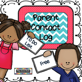 Parent Contact Log & To Do List Back to School