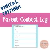 Parent Contact Log - Digital Edition