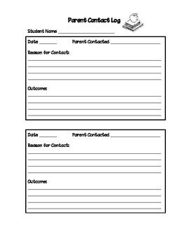 Parent Contact Log - Elementary