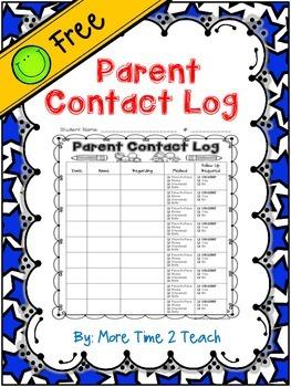 Parent Contact Log {FREE}