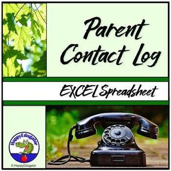Parent Contact Log - Spreadsheet