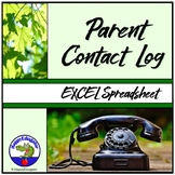 Parent Contact Log - Excel Spreadsheet