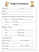 Parent Communication Log & Student Information Binder