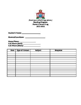 Parent Contact Recording Form