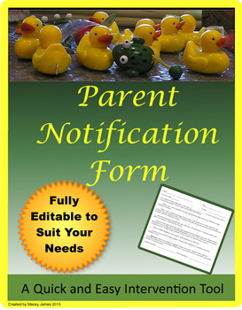 Parent Notification and Contact Sheet