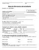 Parent Contact Sheet - English and Spanish