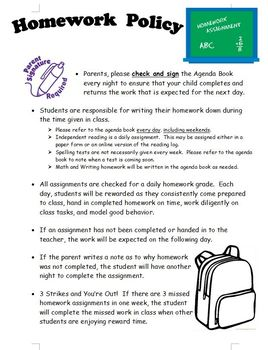 Back To School - Parent Welcome Packet