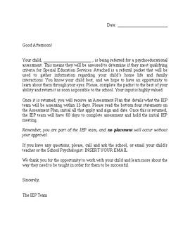 Parent Cover Letter