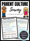 Parent Culture Survey (English and Spanish)