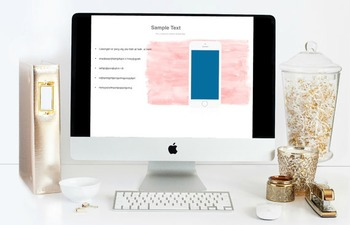 "Parent Curriculum Night Powerpoint Presentation Template ""La Rose"" in Pink"