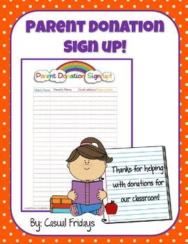 Parent Donation Sign Up