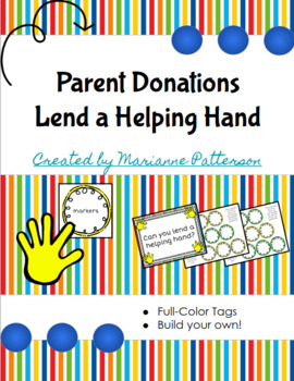 Parent Donations - Lend a Helping Hand
