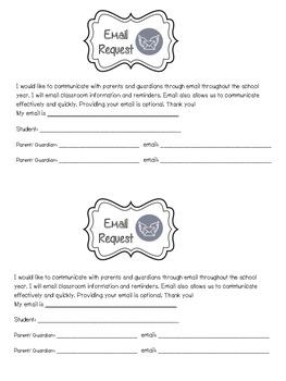 Parent Email Request Form