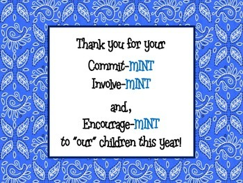 "Parent Encourage ""Mints"" Sign"