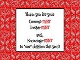 """Parent Encourage """"Mints"""" Sign"""