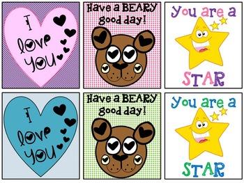 Parent Encouraging Lunchbox Mini Cards