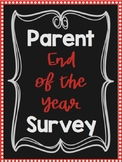 Parent End of the Year Survey!