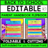 Parent Flip book Handbook (Editable)
