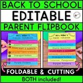 EDITABLE Parent Flipbook Handbook | Back to School Flipbook | Meet the Teacher